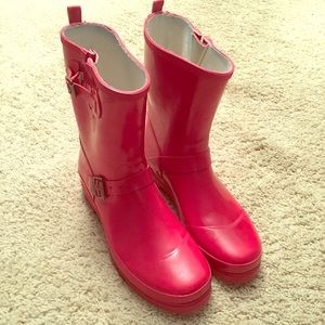 red short rain boots // esprit (euro size 40)
